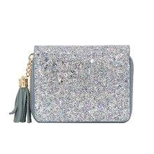 Crystal Women Wallets with Zipper Pink Phone Pocket Purse Card Holder Patchwork Women Lady Tassel Short Coin Purse Money Bag все цены