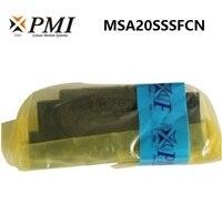 4pcs/lot Original Taiwan PMI MSA20S N MSA20SSSFCN linear guideway sliding block Carriage for CO2 laser machine MSA20S