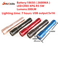 СВЕТОДИОДНЫЙ фонарик 5 цвета USB зарядка 3 Вт LED power bank лампы мощность светодиодный фонарик светодиодные лампы linternas свет сада портативный лампы