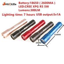 LED torch 5 colors USB charging 5W LED power bank lamps power flashlight LED led lamp linternas garden light portable lamp