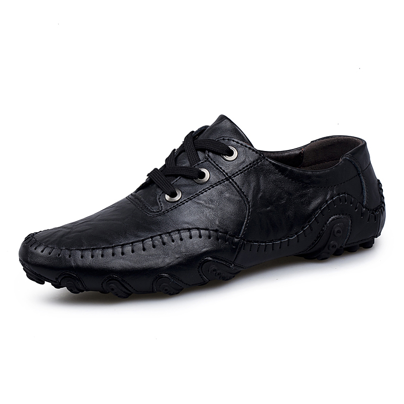 Fashion British Style Men Causal Shoes Sneakers Genuine Leather Men Shoes Four Style Outdoor Flats Shoes Zapatos Hombre in Men 39 s Casual Shoes from Shoes