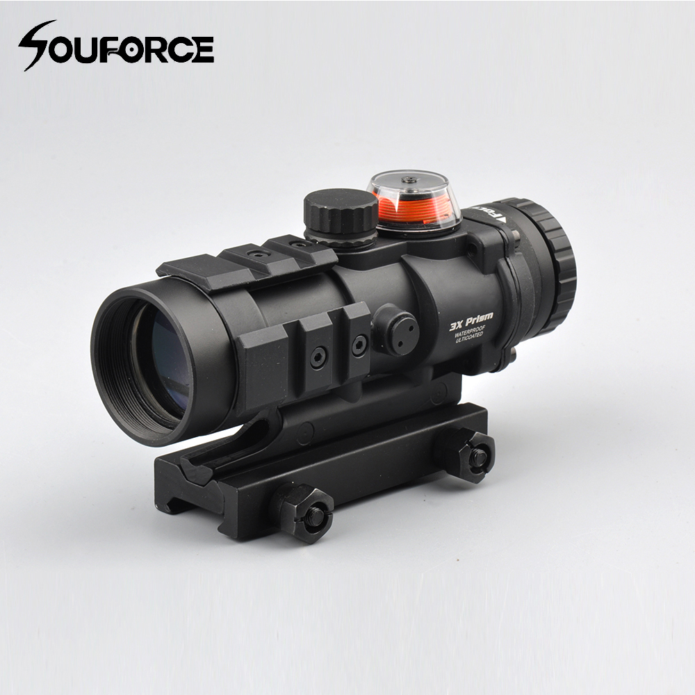 3x32 Tactical Gp01 Fiber Prism Red/Green Illuminated Sight Riflescope with Ballistic CQ Reticle