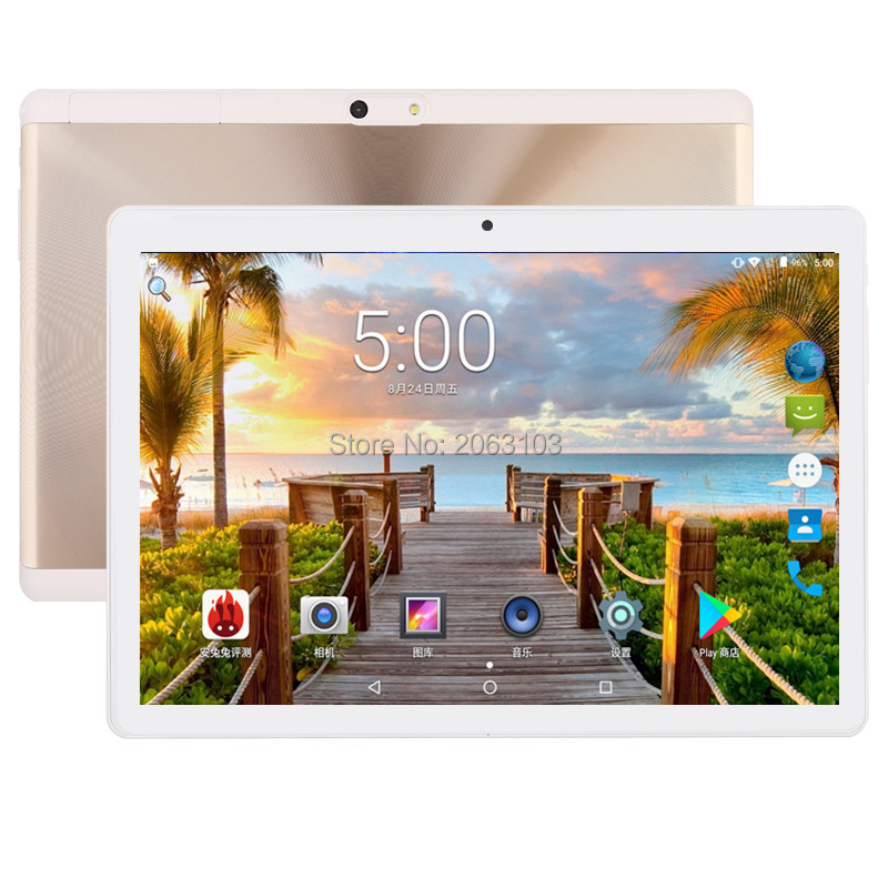Newest 2.5D 10 inch Android 7.0 tablet pc 8 core 4GB RAM 64GB ROM 1280*800 IPS Dual SIM card wifi Bluetooth Smart tablets 10 cige a6510 10 1 inch android 6 0 tablet pc octa core 4gb ram 32gb 64gb rom gps 1280 800 ips 3g tablets 10 phone call dual sim