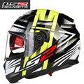 Envío libre genuino UV casco integral motocicleta del casco casco integral doble lente LS2 FF320
