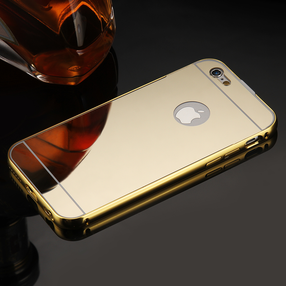 3f3e149fac Mirror Case For iPhone 6 6s Aluminum Frame + Hard PC Plating Back Cover For iPhone  6s Plus Metal Phone Cover For iPhone 6 Plus on Aliexpress.com | Alibaba ...