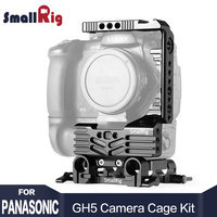 SmallRig DSLR Камера стабилизатор половина cage Kit для Panasonic Lumix GH5 Камера с Батарейная ручка с 15 мм Род Зажим 2024