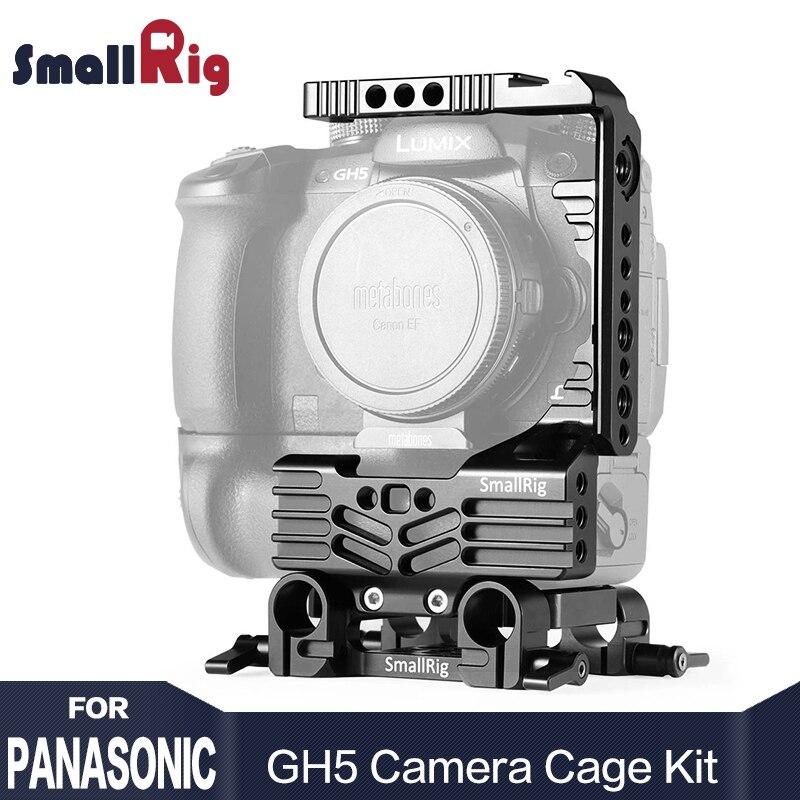 SmallRig DSLR Caméra Stabilisateur Moitié cage Kit pour Panasonic Lumix GH5 Caméra avec Batterie Grip Avec 15mm Rod Clamp 2024