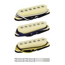 FLEOR 3 шт./компл. Alnico 5 одновитковая катушка пикап Электрогитары пикап шеи/средний/мост 50/50/52 мм для FD старта Аксессуары для гитары