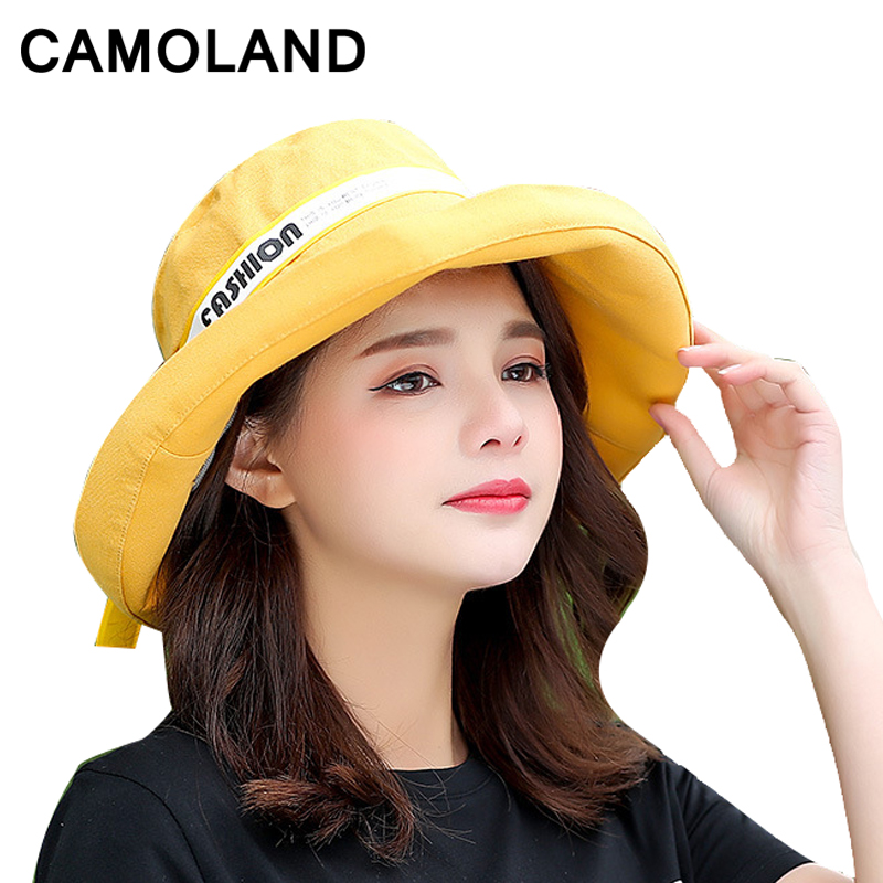 Cotton Fashion Bucket Hats Solid Panama Summer Fishing Hat Female Caps Fine grid hat UV Protection Sun Hat Bow Foldable Bow Pink