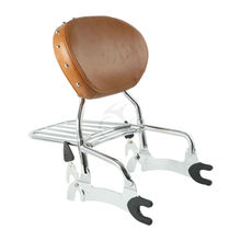 12 Backrest Sissy Bar W/ Luggage Rack For Indian Chief Classic Vintage 2014-18 Dark Horse 16-18