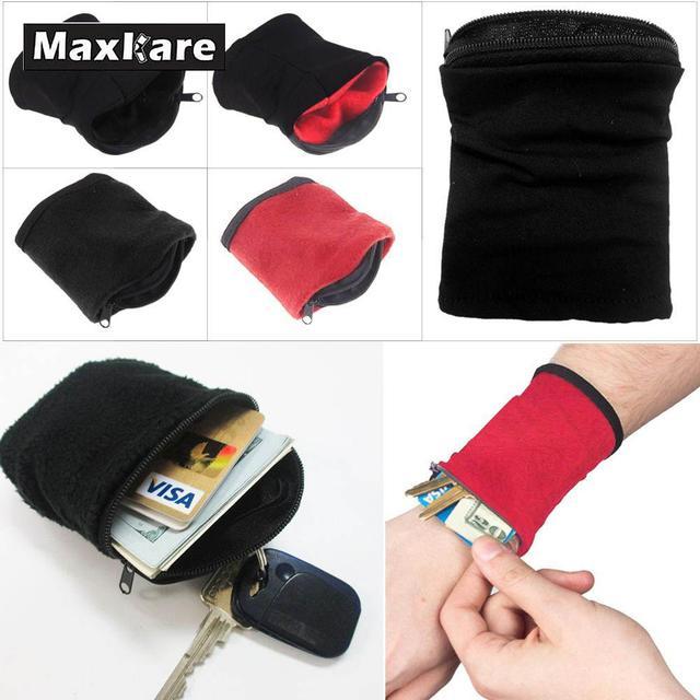 Maxkare бумажник, крепящийся на запястье фитнес Группа напульсники Путешествия Велоспорт спортивный кошелек пеший Туризм аксессуары Высокое качество