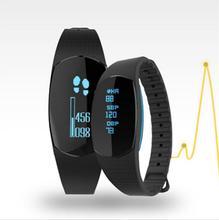 Pressão arterial Relógio da Frequência Cardíaca Relógio Rastreador de Fitness Banda Homens Mulheres Armband Runing Controle Inteligente Pulseira para Iphone 8 Android