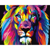 Frameless Digital Painting DIY Oil Painting By Numbers Of Color Lion Painting On Home Decoration Wall