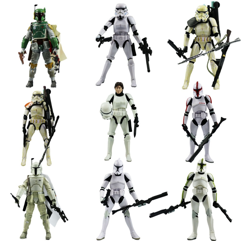 все цены на  9pcs Lot Star Wars The Black Series Boba Fett Stormtrooper 6