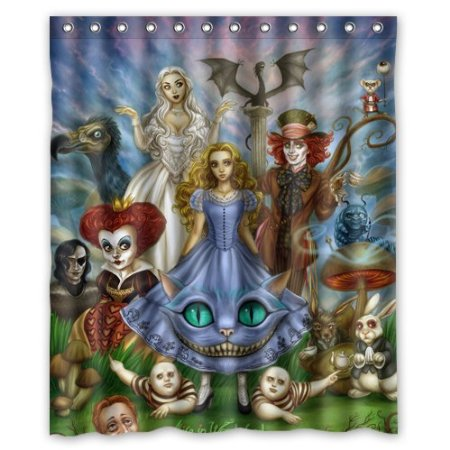 Curtains Ideas alice in wonderland curtains : Online Buy Wholesale alice wonderland shower curtain from China ...