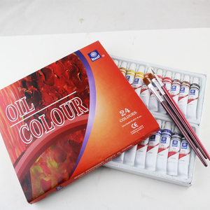 Image 4 - Memory brand oil colors paints fine painting supplies 24 colours 12ml tube offer brushes for free
