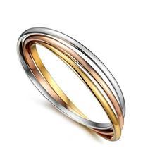 Прекрасный подарок,, летние вечерние женские ювелирные украшения из нержавеющей стали, популярные 3 кольца