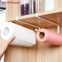 GX Diffuser Kitchen Paper Towel Holder Iron Tissue Roll Towels Storage Rack Cabinet Hanging Shelf Bath