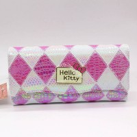 Hello Kitty Long cat women wallets Fashion serpentine cute famous brand purse wallet High quality PU red dollar price