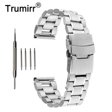 16mm 18mm 20mm 22mm 24mm Stainless Steel Watch Band Safety Buckle Watchband for