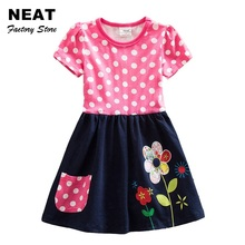 4-8Y Retail New Girls Dresses Baby Girl Cartoon Children Lace Tutu Dresses Party Princess Dresses Neat Cloth SH5748 Mix(China)