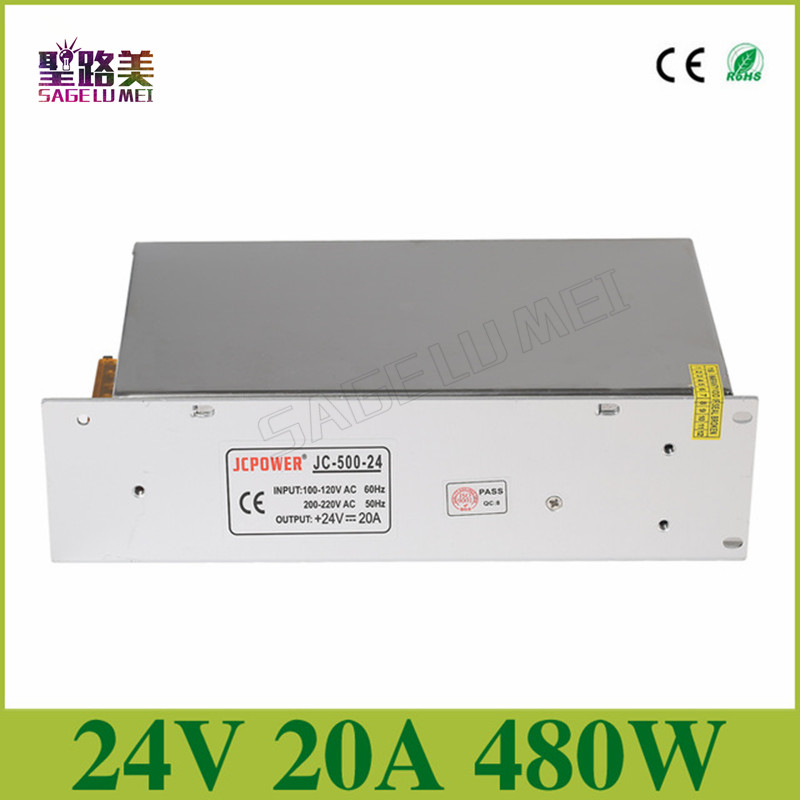 AC110V 220V TO DC24V 1A 2A 3A 5A 10A 15A 20A 72W 120W 240W 360W 480W Universal Regulated Switching LED Power Supply Transformer