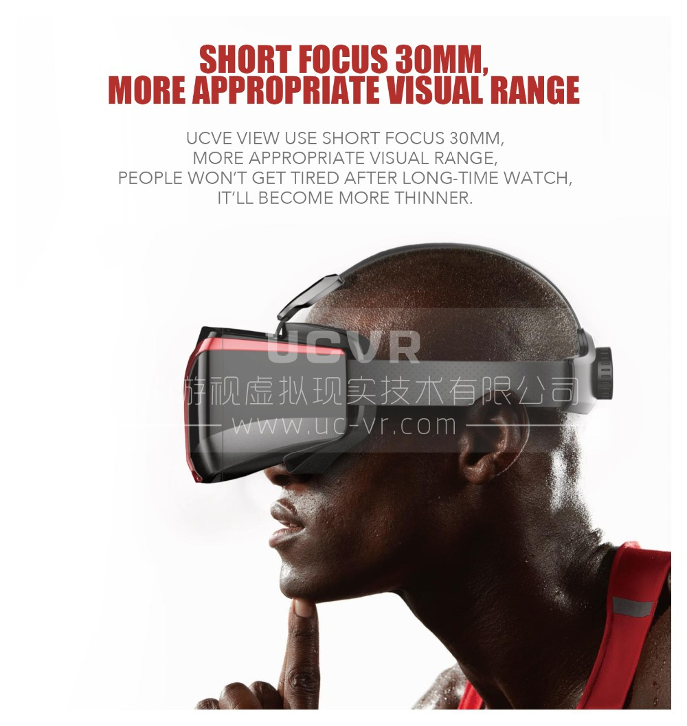 US $46 88 |VR 3D Eyeglasses UCVR 360 Full View Stereoscopic Immersive Games  and Video for 5 5 7 Inch Smart Phone Binocular-in 3D Glasses/ Virtual