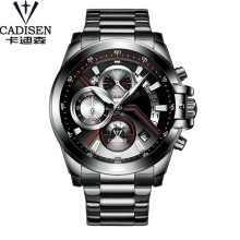 2017 Mens Watch CADISEN Brand Luxury Men Bright Hands Clock Military Army Sports Stainless Steel Wristwatch Relogio Masculino