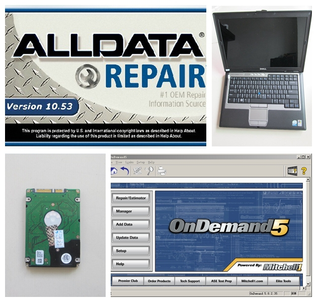 New alldata v 10 53 and mitchell on demand installed with d630 2g font b laptop
