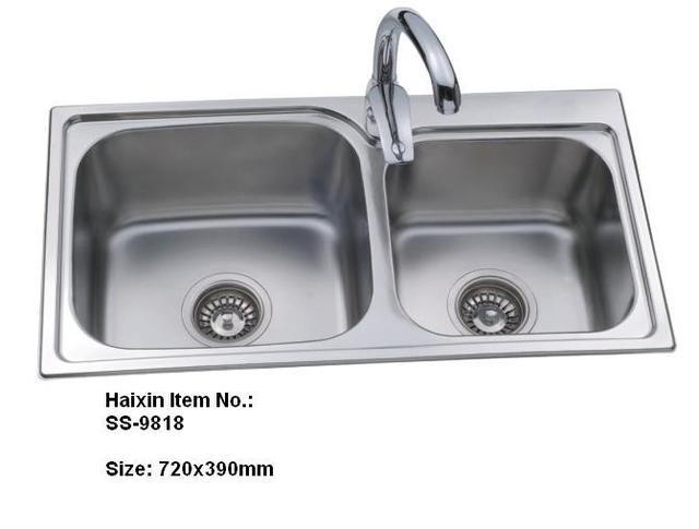 Double bowl kitchen sink stainless steel kitchen sinks wash basin ...