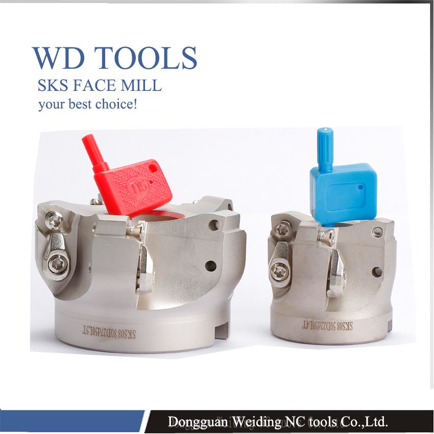 high feed sks face mill SKS08 -80-27-5T Inserted Shoulder Cutter Facemill 80 mm for For Dijet WDMW080520