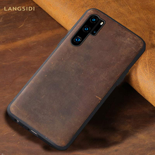 цена на Genuine PULL-UP Leather phone case for Huawei P20 P30 Pro Lite mate 30 20 pro Lite 360 full cover For Honor 8X 20 Pro V20 10 9X