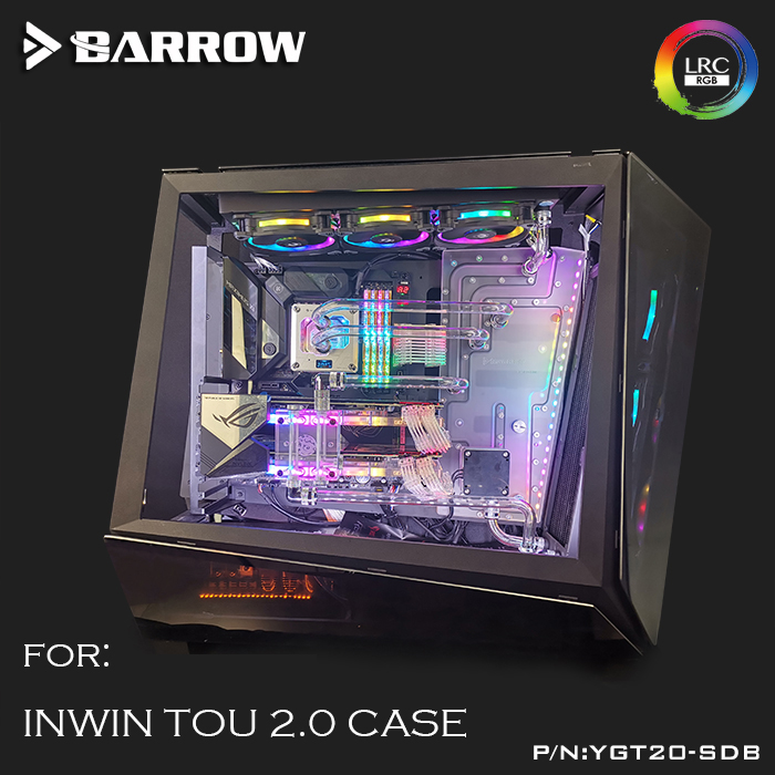 Barrow waterway board for INWIN TOU 2.0 computer case clear water cooling reservoir,large capacity Water tank ,5v 3pin YGT20-SDB