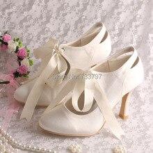 (20สี)ที่กำหนดเองที่ทำด้วยมือริบบิ้นรองเท้าเจ้าสาวแต่งงานไอวอรี่ลูกไม้ขึ้นรองเท้าส้นสูง