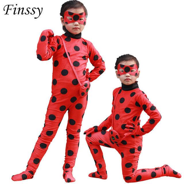 Miraculous Ladybug Costume for Girl Cosplay Ladybug Dress Carnival  Halloween Party Costume for Kids Clothes Mask Bags Set No wig 60fcf48e1479
