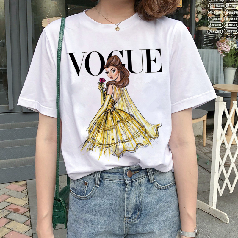 New Graphic Vogue T Shirt Women Fashion Harajuku Ullzang Cartoon T-shirt Funny Printed 90s Tshirt Korean Style Top Tees Female 4