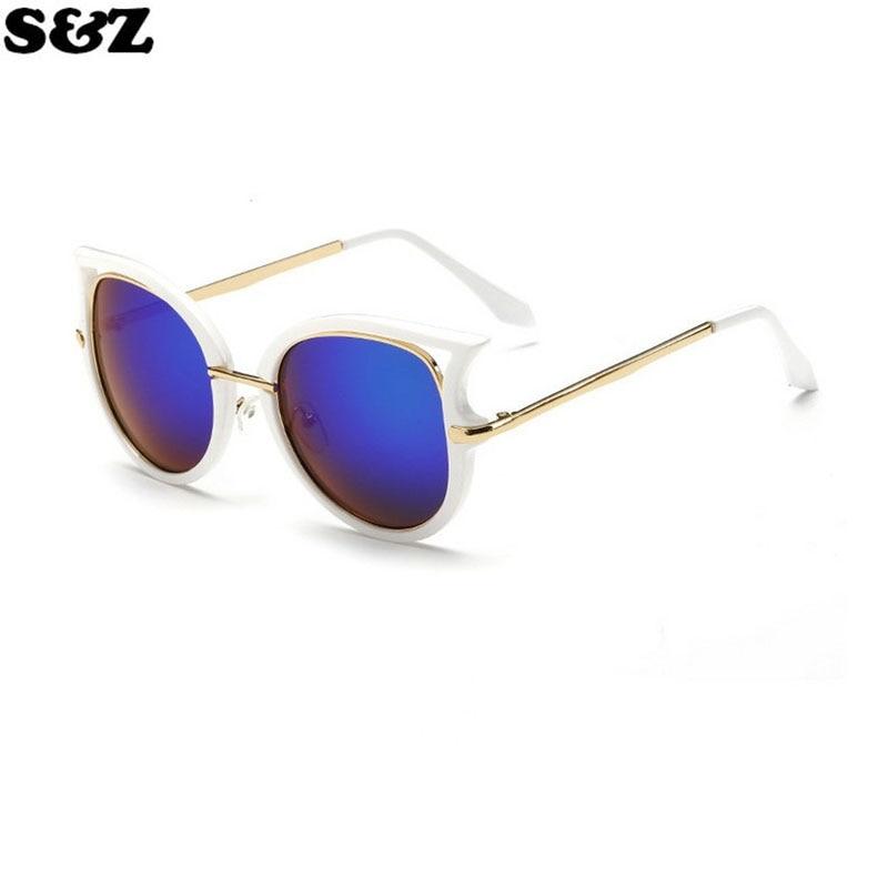 4e74667b435 ①Mode d été Femmes Cat Eye lunettes de Soleil Classique Marque ...