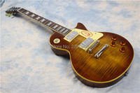 Custom Shop 1959 R9 Tiger Flame Electric Guitar Standard LP 59 Electric Guitar HOT Support Customization