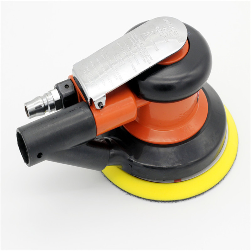 Free Shipping Pneumatic Polishing Machine polisher Air Sander 5-6 inch Sin Self-vacuum air random orbital sander tool car polish swingable pneumatic eccentric grinding machine 125mm pneumatic sander 5 inch disc type pneumatic polishing machine