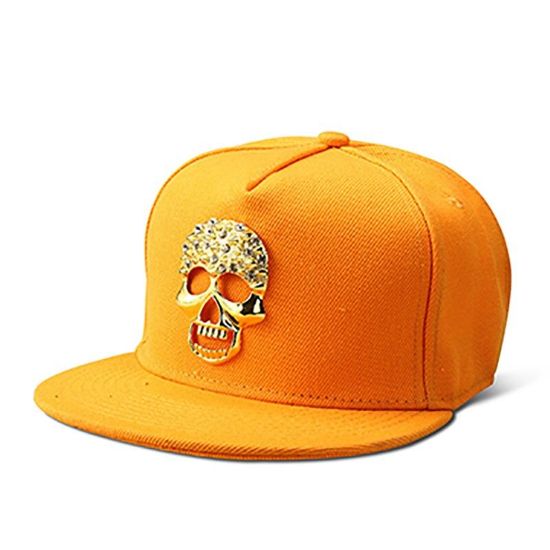 Nyuk Bling oro cráneo logo Gorras de béisbol hip hop sombreros buen algodón gorras  snapbacks casquette ajustable para hombres mujeres regalo 51b618c1943