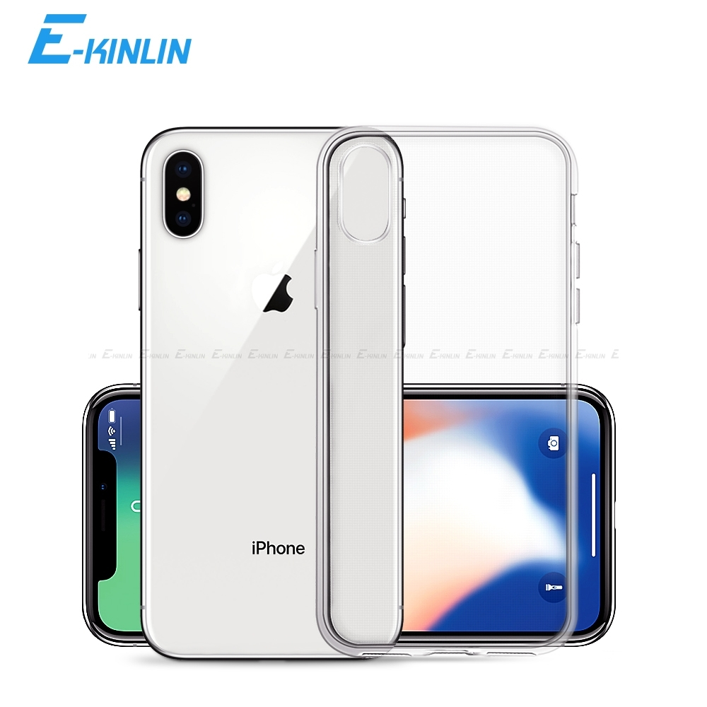 Clear Crystal Soft Silicone Back Full Cover For iPhone XR XS Max X 10 6 6S 7 8 Plus SE 5 5S 5C 4 4S Ultra Thin TPU Phone Case iPhone XR
