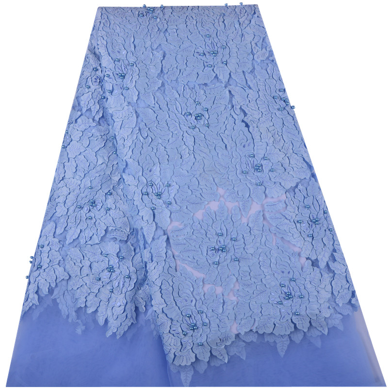 African Embroidery French Lace Fabric With 3D Flower Lace High Quality Nigerian Wedding Dress Appliques Lace