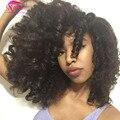 7A barato Afro Kinky Curly Cabelo Mink Cabelo Brasileiro Weave Bundles Kinky Curly Virgem Tissage Bresilienne Cabelo 3 Ofertas Bundle