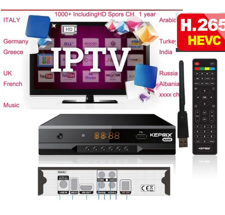 все цены на hevc Satellite Receiver KEPNIX nano+1 year ccam for europe wifi m3u iptv vs gt media v7s freesat v7s powervu rcv h.265 онлайн