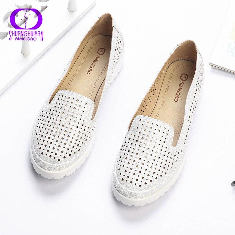 Las mujeres de Las Mujeres Respirables Cómodos Zapatos Del Barco Pisos Casual Ge