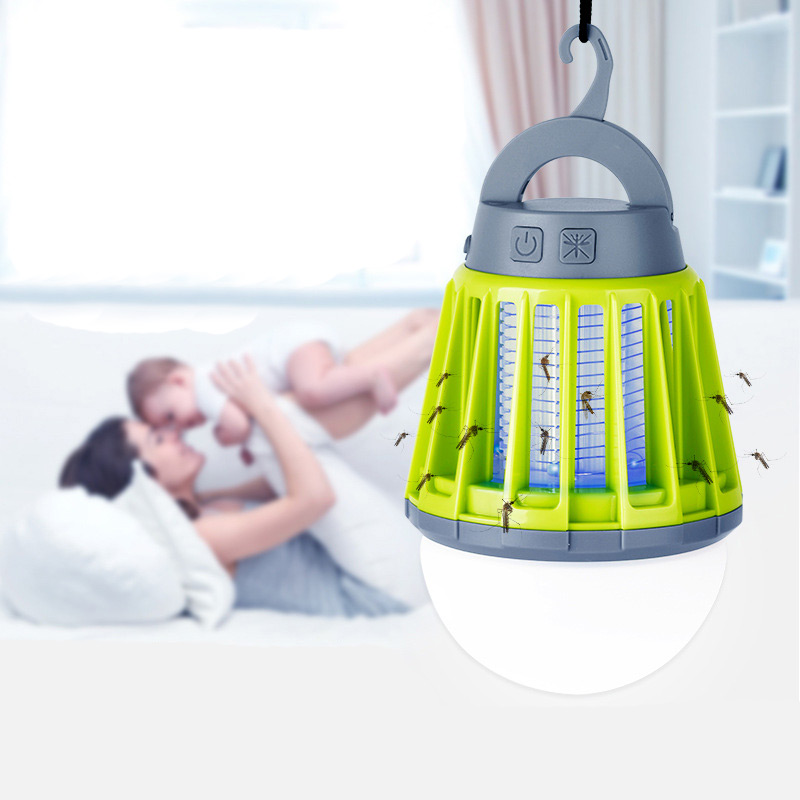 Portable Outdoor Camping Light Bulb USB Charging LED Mosquito Killer Lamp Waterproof Repellant Pest Insect Pest Control Tools