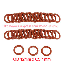 OD 12mm x CS 1mm red silicone o ring o-ring oring sealing rubber