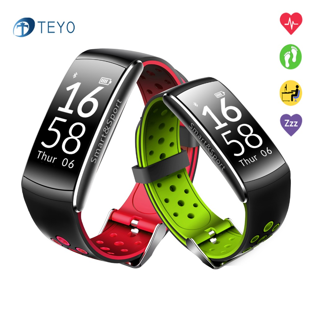 Teyo New Sport Smart Bracelet Q8 Heart Rate Monitor Fitness Tracker Waterproof Mesage Notification Smartband for