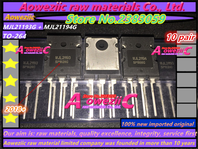 Aoweziic 2018+ 100% New Imported Original  MJL21193G  MJL21194G  MJL21193  MJL21194  TO-264 High Power Tube Audio Paired Tube