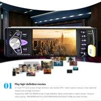 4 1 1Din Car Audio Autoradio Car MP5 Player Viehcle FM Radios Card Disk Reversing Video